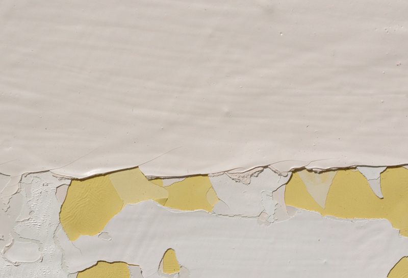 Image details: Sam Howie, <em>Survey</em> (detail) Enamel on paper, 2014