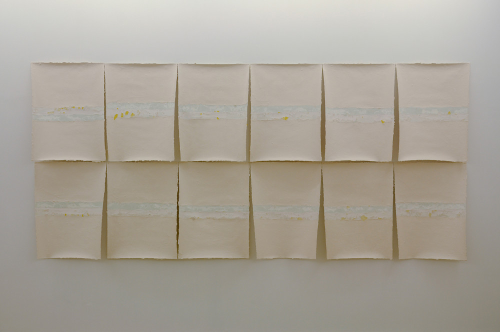 Sam Howie. Survey. 150cm x 330cm. Enamel on paper. 2014