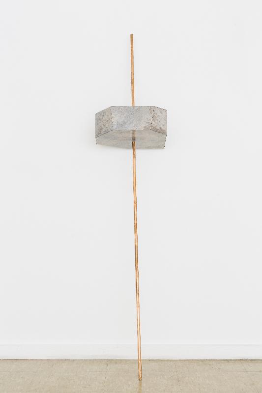 Untitled, 2015, copper pipe, vinyl, polystyrene